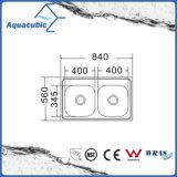 Boven de TegenGootsteen van de Keuken van Moduled van het Roestvrij staal (acs-3322)