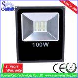 Epistar SMD adelgaza el reflector de aluminio de la cubierta IP65 100W LED