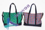 Course d'achats de sac d'emballage de toile de sac de coton d'achats et emballage de sports