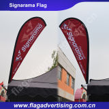 Bandeira de praia excelente do anúncio ao ar livre, bandeira da bandeira da vela, bandeira da pena