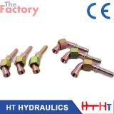 Encaixe de mangueira forjado hidráulico da maquinaria do CNC com Ce e certificação do ISO (20741)
