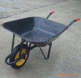 Canteiro de obras preto do carrinho de mão de roda Wb6200 do metal