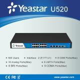 Yeastar FXS/FXO/GSM/Bri/UMTS vira el sistema de teléfono hacia el lado de babor opcional de VoIP PBX del módulo