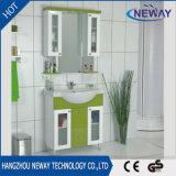 Klassischer Fußboden-stehende Möbel-Badezimmer-Schrank mit Spiegel