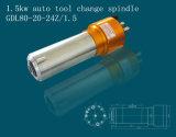 Motor automático do eixo da mudança 1.5kw da ferramenta para o router do CNC (GDL80-20-24Z/1.5)