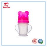 Aniamlの帽子180ml/200mlが付いているプラスチック赤ん坊のトレーニングのコップ