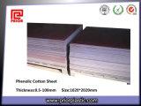 Feuille phénolique stratifiée par isolation de tissu de coton