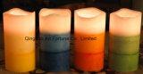 Flammenlose überlagerte duftende LED-Wachs-Kerze für Hauptdekor