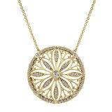 L'oro ha placcato i monili d'argento di modo della collana dei 925 pendenti