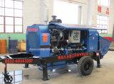 Bomba concreta agregada grande media con el motor diesel y el motor de Electnic
