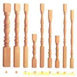 Columna de madera de la escalera para la escalera