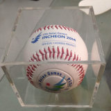 Modificar la caja de presentación para requisitos particulares de acrílico del béisbol del color transparente