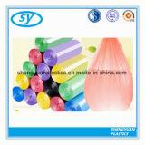 Bolso de basura plástico pila de discos colorido del rodillo de sello de la estrella del LDPE