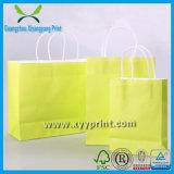 Personalizzato maniglia piatta della carta kraft Shopping Bag con finestra