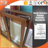 Alta ventana elogiada del marco de madera sólida, ventana de desplazamiento de aluminio de la rotura termal de madera del color para la casa residencial