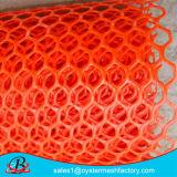 Rede plástica do engranzamento da cor verde