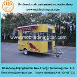 Caminhão elétrico móvel do fast food amarelo quente da lagosta da probabilidade das vendas