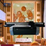 Impresora de color ULTRAVIOLETA del suelo de azulejo de la impresora de la placa de la pared del fondo de la sala de estar TV de la impresora de la pared de cristal ULTRAVIOLETA del fondo