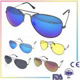 2016 lunettes de soleil rondes de miroir de marque de mode de produits