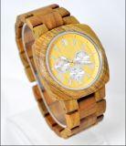 Vigilanze di legno del quarzo del braccialetto della data della vigilanza di modo del nuovo orologio all'ingrosso del legno di sandalo rosso