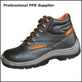 Zapatos de seguridad de acero baratos del trabajo de la punta de la inyección de la PU