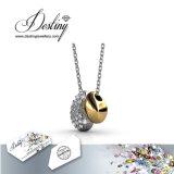 Cristal da jóia do destino do pendente & da colar afortunados do feijão de Swarovski