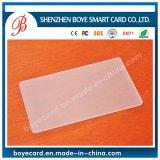 Cartão em branco transparente de plástico para impressora digital