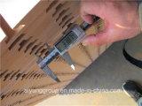 Scheda scanalata del MDF affrontata melammina di struttura, MDF della scanalatura con alluminio
