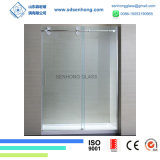 Freies Satin-Ätzung-Schwingen, das Frameless ausgeglichenes Glas-Dusche-Tür schiebt