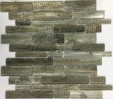 Nuevo azulejo de mosaico de cristal laminado de la dimensión de una variable de la raya