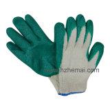 Guante revestido del trabajo de mano de la seguridad de los guantes del látex liso al por mayor