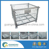 Zusammenklappbarer Stahlmaschendraht-Rahmen für industrielle Lager-Zahnstange