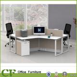 Sitio de trabajo moderno del personal del cubículo de la partición de la oficina de la pantalla de 120 grados