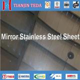 304 feuilles de finition d'acier inoxydable de miroir