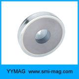 Leistungsfähiger NdFeB Neodym-Holding-Potenziometer-Magnet mit geradem Loch
