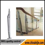 Trilhos de vidro do balcão do aço inoxidável de projeto moderno