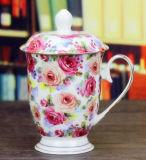 De ceramische Kop van de Thee past de Kop van de Thee van het Porselein van de Kop van de Gift van het Embleem aan