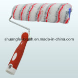 Grey & Red Stripe Paint Roller con Handle