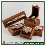 относящая к окружающей среде Bamboo деревянная упаковывая коробка ювелирных изделий
