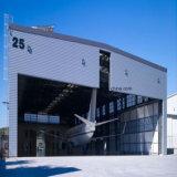 前に設計された鉄骨構造の建物は航空機整備のために取除いた