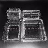 Plástico PS PP Empaquetado del producto caja de almuerzo