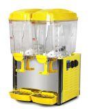 La máquina del jugo/la bebida calientes y frescas dispensa