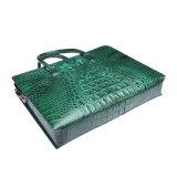 Sacs d'OEM pour la serviette véritable d'ordinateur portatif d'affaires de cuir de crocodile des hommes
