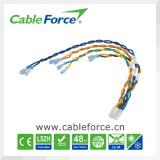 M12 5pin männlicher rechter winkliger geformter Kabel-Rundsteckverbinder mit Kabel-Stecker