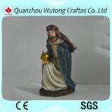 Decorazione religiosa della mangiatoia di natività della resina dell'ornamento di natale dei Figurines 16/S della resina su ordinazione