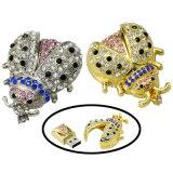 Palillo del USB de la joyería del metal del mecanismo impulsor del flash del USB del diamante mini