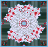 Eindeutiger Schal der Muster-100%Silk