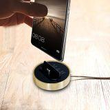Projeto Ultra-Thin e estação cobrando inoxidável de telefone móvel do berço da doca do carregador do telefone do corpo de aço para Samsung Huawei