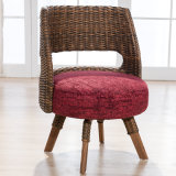 短いソファーの椅子の藤の椅子B03-13