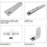 Difusor del canal ligero del perfil del montaje del LED para la tira del LED